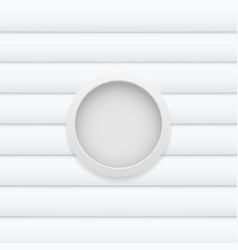 white button on pattern white background vector image vector image