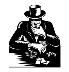Poker player gambler vector