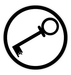 Key button on white vector