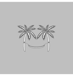 Hammock computer symbol vector image