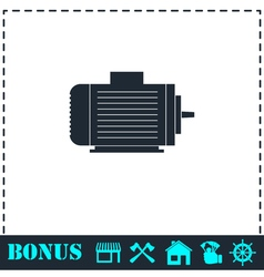 Motor icon flat vector