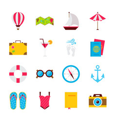 Summer time objects vector