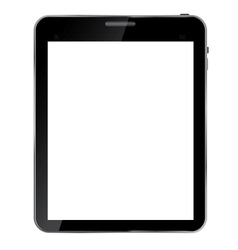 Abstract design realistic tablet with blank screen vector image
