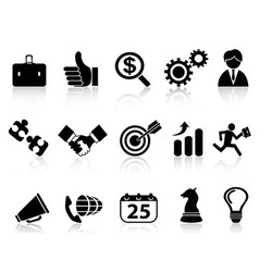 business icons setblack series vector image