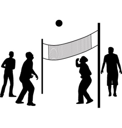 volleyball game silhouette vector image
