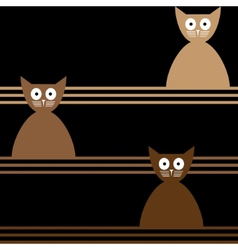 Cats abstract seamless background template for vector