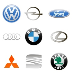 New auto logo set vector image