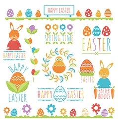 Easter decorations vector