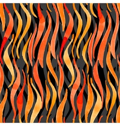 Fire flame watercolor seamless pattern-model for vector