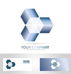 Cube 3d technology logo vector image
