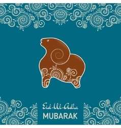 Greeting card template for muslim community vector