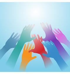 people hands vector image