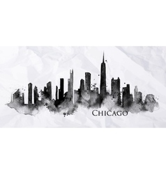 Silhouette ink chicago vector