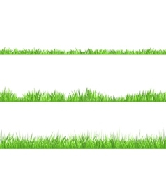 Green Grass Flat Horizontal Banners Set vector image