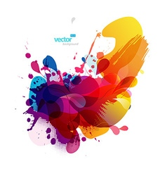 Abstract colorful splash vector image vector image