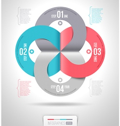 Abstract infographics template design vector image vector image