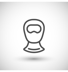 Balaclava line icon vector