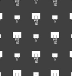 Basketball backboard icon sign Seamless pattern on vector image vector image