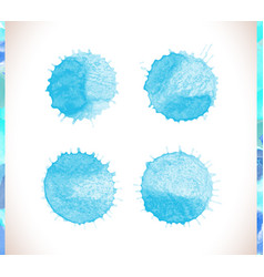 Blue watercolor background blue watercolo vector