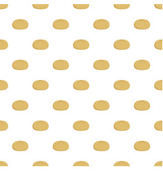 Bun pattern seamless vector