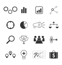 business strategy and marketing icons set design vector image