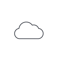 Cloud weather thin line icon linear vector