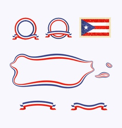 Colors of Puerto Rico vector image