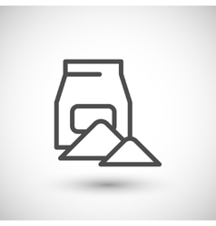 Concrete pack line icon vector