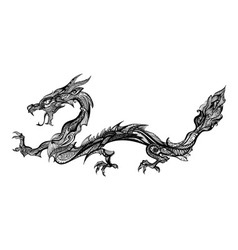Doodle dragon vector image vector image