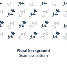 Elegant flowers fancy backdrop pattern vector image