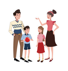 family relation happy vector image