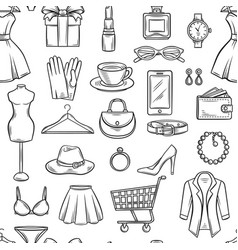 fashion sale background vector image