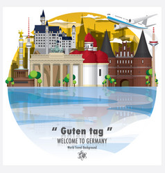 federal republic of germany landmark global vector image vector image