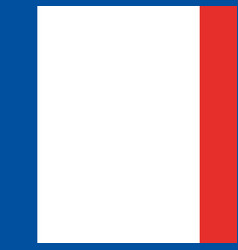 french flag emblem vector image vector image
