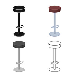 high chair seat near the bar bary chair to relax vector image vector image