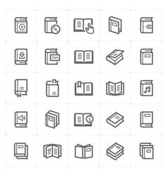 icon set - book vector image vector image