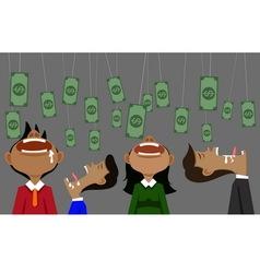 Money and bait vector