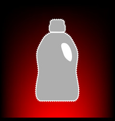 Plastic bottle for cleaning postage stamp or old vector