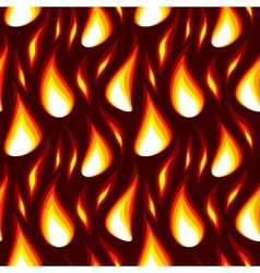 red flame seamless background vector image vector image