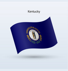 State of kentucky flag waving form vector