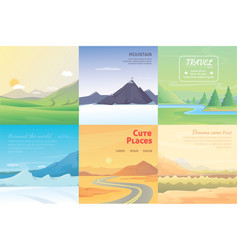 summer landscape set mountains among the trees vector image