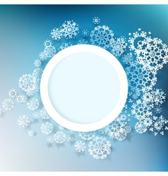 Winter design with snowflakes EPS 10 vector image vector image