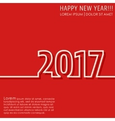 New year 2017 card vector