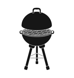 Grill for barbecuebbq single icon in black style vector