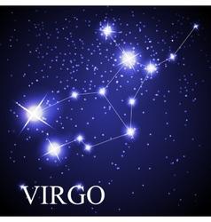 Virgo zodiac sign of the beautiful bright stars vector image