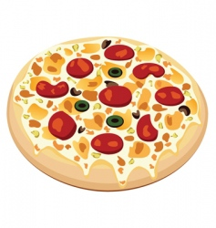 vector pizza vector image