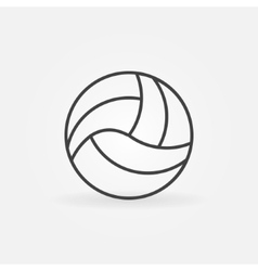 Volleyball icon or logo vector image