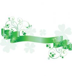 St patrick's day scroll vector