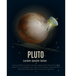 Pluto planet poster vector