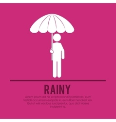 Rainy season design vector